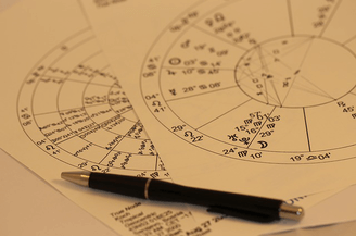 a horoscope chart used in astrology